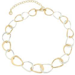 Gloria Vanderbilt Two Tone Linked Necklace