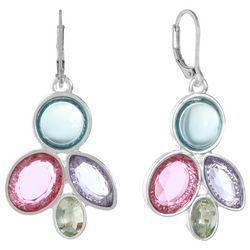 Gloria Vanderbilt Silver Tone Multi Stone Drop Earrings