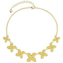 Gloria Vanderbilt Yellow Flower Collar Necklace