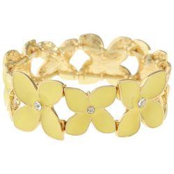 Gloria Vanderbilt Yellow Flower Stretch Bracelet