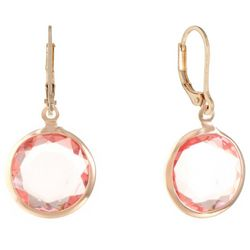Gloria Vanderbilt Pink Rose Gold Tone Channel Drop