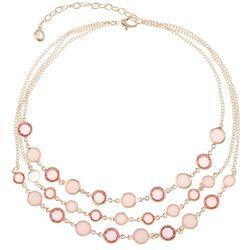 Gloria Vanderbilt 3 Row Coral Channel Bead Necklace