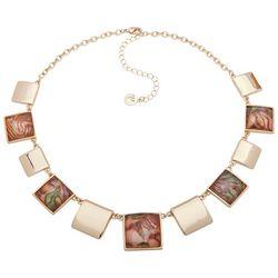 Gloria Vanderbilt Gold Tone Square Collar Necklace
