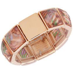Gloria Vanderbilt Gold Tone Square Stretch Bracelet