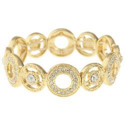 Gloria Vanderbilt Gold Tone Rhinestone Circle Bracelet