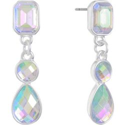 Gloria Vanderbilt Aurora Borealis Rhinestone Drop Earrings