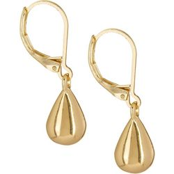 Gloria Vanderbilt Gold Tone Teardrop Earrings