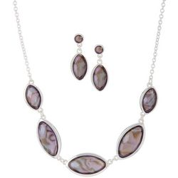 Gloria Vanderbilt Tanzanite Purple Marquis Necklace Set