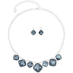 Gloria Vanderbilt Blue Shaky Necklace & Earring Set