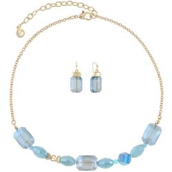 Gloria Vanderbilt Blue Beaded Necklace Set