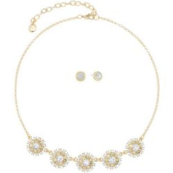 Gloria Vanderbilt Starburst Necklace & Earring Set