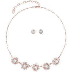 Gloria Vanderbilt Rose Starburst Necklace Set