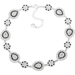 Gloria Vanderbilt Teardrop Crystal Collar Necklace