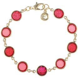 Gloria Vanderbilt Red Channel Bead Link Bracelet