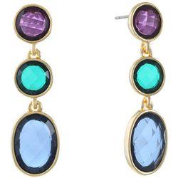 Gloria Vanderbilt Triple Channel Bead Drop Earrings