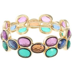 Gloria Vanderbilt Multi-Faceted Link Stretch Bracelet