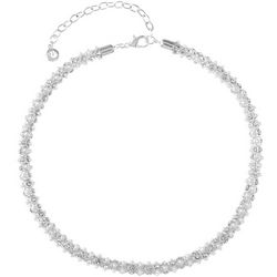 Gloria Vanderbilt Pearl & Crystal Mesh Necklace