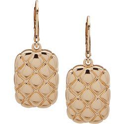 Gloria Vanderbilt Quilted Rectangle Drop Earrings