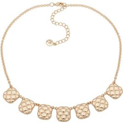 Gloria Vanderbilt Quilt Textured Frontal Necklace