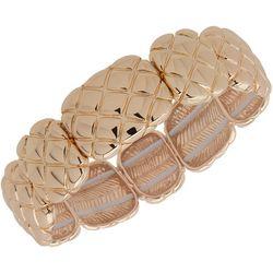 Gloria Vanderbilt Quilt Textured Stretch Bracelet