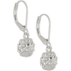 Gloria Vanderbilt Rhinestone Ball Drop Earrings