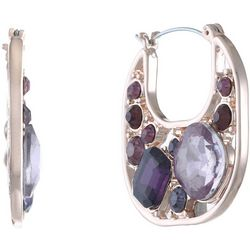 Gloria Vanderbilt Purple Multi Hoop Earrings