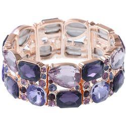 Gloria Vanderbilt Purple Multi Stretch Bracelet