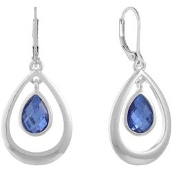 Gloria Vanderbilt Blue Dangle Teardrop Earrings