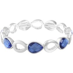 Gloria Vanderbilt Blue Teardrop Stretch Bracelet