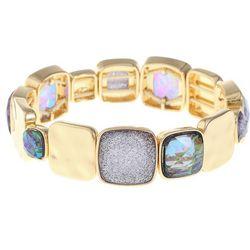 Gloria Vanderbilt Opal Purple Sparkle Stretch Bracelet
