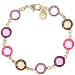Gloria Vanderbilt Purple Multi Channel Link Bracelet