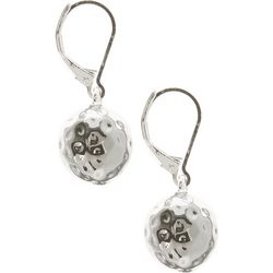 Gloria Vanderbilt Hammered Ball Drop Earrings