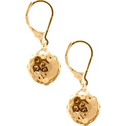 Gloria Vanderbilt Hammered Ball Gold Tone Drop Earrings