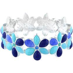 Gloria Vanderbilt Blue Flower Stretch Bracelet