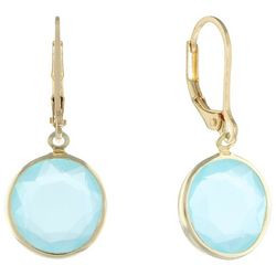 Gloria Vanderbilt Periwinkle Blue Stone Earrings