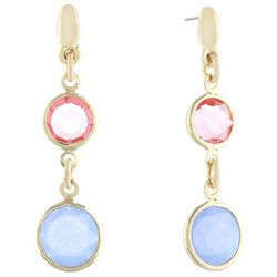 Gloria Vanderbilt Double Channel Bead Earrings