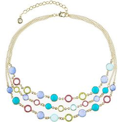 Gloria Vanderbilt Pastel Channel Necklace