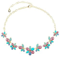 Gloria Vanderbilt Flower Frontal Necklace