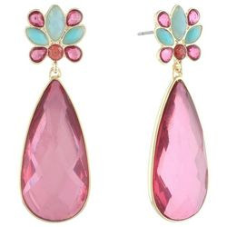 Gloria Vanderbilt Pink Multi Teardrop Earrings