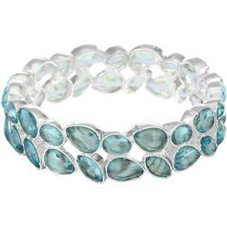 Gloria Vanderbilt Aqua Link Stretch Bracelet