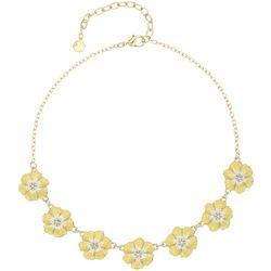 Gloria Vanderbilt Yellow Flower Frontal Necklace