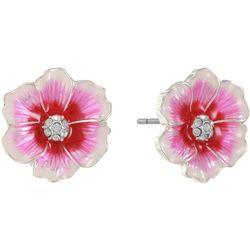 Gloria Vanderbilt Pink Multi Flower Stud Earrings