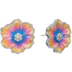 Gloria Vanderbilt Spring Enamel Flower Earrings