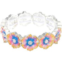 Gloria Vanderbilt Spring Flower Stretch Bracelet