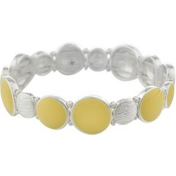 Gloria Vanderbilt Yellow Enamel Stretch Bracelet