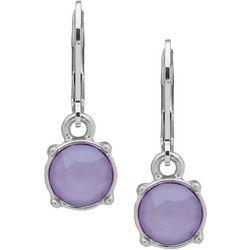 Gloria Vanderbilt Crystal Lilac Leverback Earring