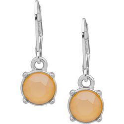 Gloria Vanderbilt Crystal Butter Leverback Earring