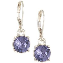 Gloria Vanderbilt Tanzanite Crystal Drop Earrings