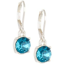 Gloria Vanderbilt Indicolite Crystal Drop Earrings