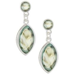 Gloria Vanderbilt Double Drop Abalone Earrings